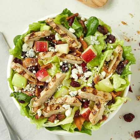 $5.99 for Chicken Harvest or Italian Chef salad only